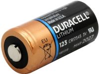 Duracell DL123 3v Lithium Battery (CR123A) From £4.16 EX VAT Buy Online from The Battery Shop